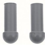 This is an image of a GM Licensed set of 1967-69 Camaro Or Firebird Sunvisor Tips And Bushings