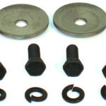 This is an image of 1967-69 Camaro Or Firebird Upper Control Arm Shaft Washers & Bolts