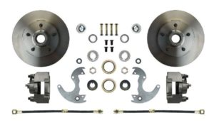 "This is an image of a 1967-69 Camaro Or Firebird Front Disc Brake Wheel Kit For 14"" Wheels"