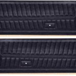 This is an image of a pair of 1976-77 Camaro Standard Front Door Panels, Unassembled