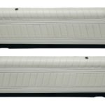 This is an image of a pair of 1976-77 Camaro Standard Front Upper Door Panels, Pre-assembled