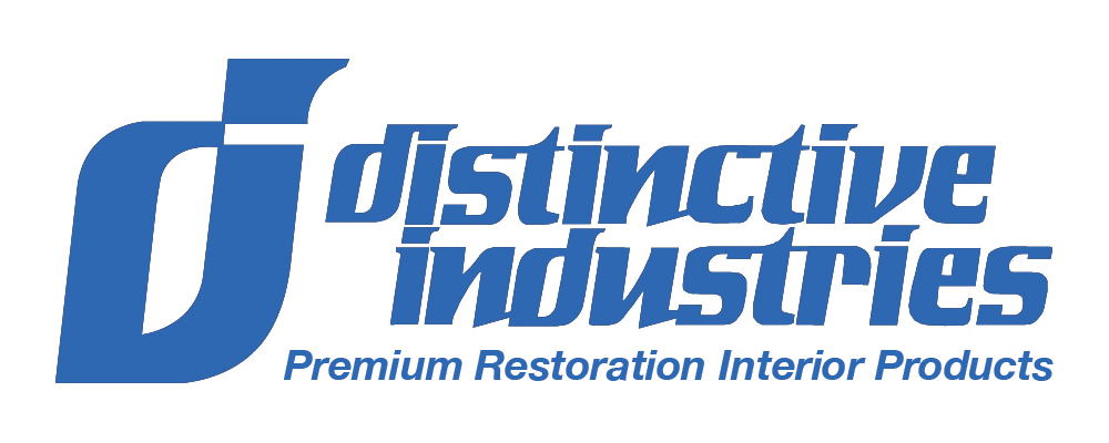 This is an image of a logo for Distinctive Industries seat covers door panels headliners