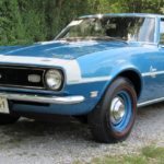 This is an image of a 1968 Camaro SS D90 Body Side Stripe Paint Stencil Kit