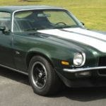 This is an image of a 1971-72 Camaro Z28 Dual Stripe Paint Stencil Kit, Tall Spoiler, Except Rally Sport