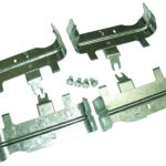 This is an image of a 1967-76 Camaro Small Block Exhaust Manifolds Heat Shield Set